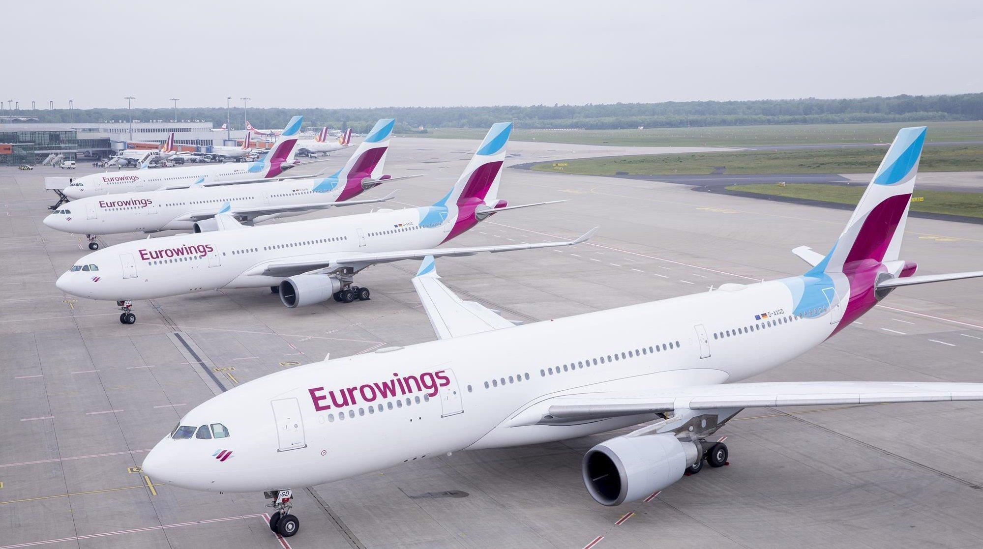 Німецький лоукостер Eurowings почав польоти в Україну